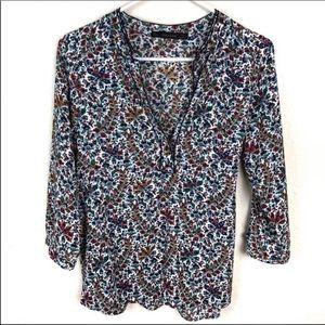 Zara Basic 3/4 length sleeved blouse.